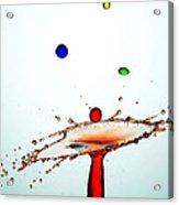 Water Droplets Collision Liquid Art 13 Acrylic Print