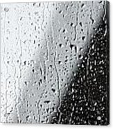 Water Drops On A Window Acrylic Print