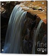 Water Fall At Seven Falls Acrylic Print by Robert D  Brozek