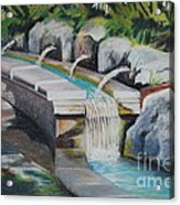 Water Fall In The Gratto Acrylic Print