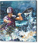 Water Fight Acrylic Print
