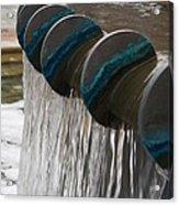 Water Fountain Natural Art In Progress Acrylic Print