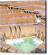 Water Garden Fountain, Fort Worth, Texas Acrylic Print