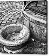 Water In The Square Acrylic Print