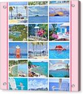 Water Island Poster Acrylic Print