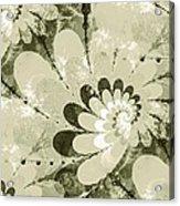Water Lilies Spirals Acrylic Print