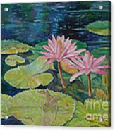 Water Lily In The Morning Acrylic Print