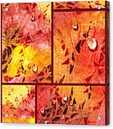 Water On Color Collage Eight Acrylic Print