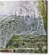 Water Over A Dam Acrylic Print
