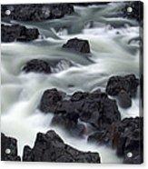 Water Over Rocks Acrylic Print
