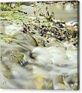 Water Over The Dike Acrylic Print