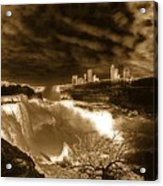 The Mighty Power Of The Falls Acrylic Print