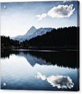 Water Reflection Blue Black And White Acrylic Print