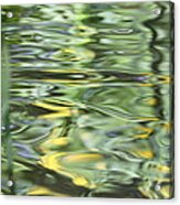 Water Reflection Green And Yellow Acrylic Print by Dan Sproul