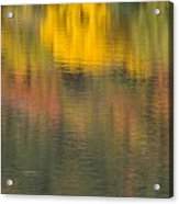 Water Reflections Abstract Autumn 2 C Acrylic Print