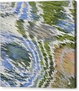 Water Ripples In Blue And Green Acrylic Print