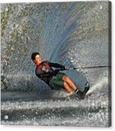 Water Skiing Magic Of Water 13 Acrylic Print by Bob Christopher