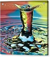 Water Splash Art Acrylic Print