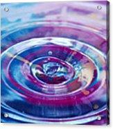 Water Splash Rings Acrylic Print