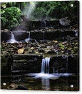 Water Steps In Fairmount Park Acrylic Print