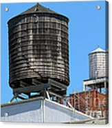 Water Tanks From The High Line Acrylic Print
