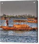 Water Taxi In China Acrylic Print