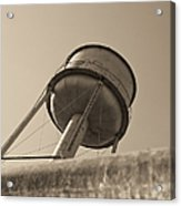 Water Tower In Deer Lodge Montana Acrylic Print