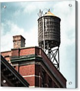 Water Tower In New York City - New York Water Tower 13 Acrylic Print