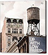 Water Towers 14 - New York City Acrylic Print