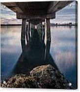 Water Under The Pier Acrylic Print