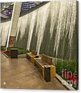 Water Wall - Aria Resort Las Vegas Acrylic Print