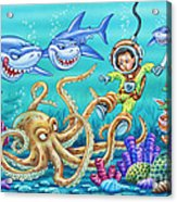 Water Warrior Acrylic Print