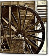Water Wheel At The Grist Mill Acrylic Print