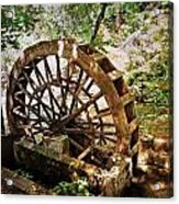 Water Wheel Acrylic Print by Marty Koch