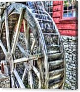 Water Wheel On Mill Acrylic Print