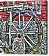 Water Wheel On Mill V2 Acrylic Print
