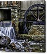 Water Wheel Plimouth Grist Mill At Jenney Pond Acrylic Print