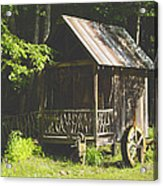 Water Wheel Shed Acrylic Print