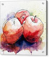 Watercolor Apples Acrylic Print