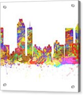 Watercolor Art Print Of The Skyline Of Atlanta Georgia Usa Acrylic Print