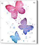 Watercolor Butterflies Acrylic Print