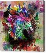 Watercolor Dragon Acrylic Print