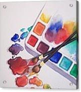 Watercolor Drops Acrylic Print
