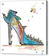 Watercolor Fashion Illustration Art Acrylic Print