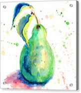 Watercolor Illustration Of Pear  Acrylic Print