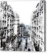 Watercolor Montmartre Acrylic Print