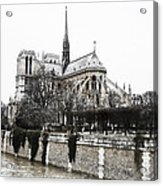 Watercolor Notre Dame Acrylic Print