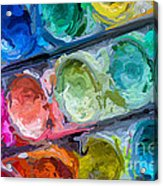 Watercolor Ovals Two Acrylic Print