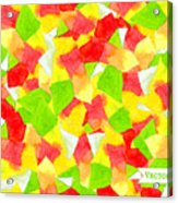 Watercolor Vector Seamless Pattern With Acrylic Print