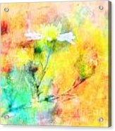 Watercolor Wildflowers - Digital Paint Acrylic Print